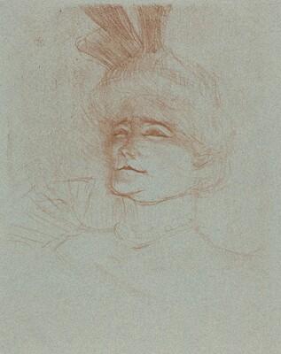 Bust of Mlle. Marcelle Lender, Turned Three Quarters (Mlle. Marcelle Lender en buste, de trois quartes)