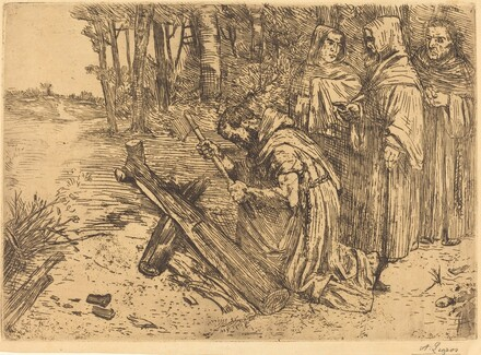 Monks Chopping Wood (Les moines bucherons)
