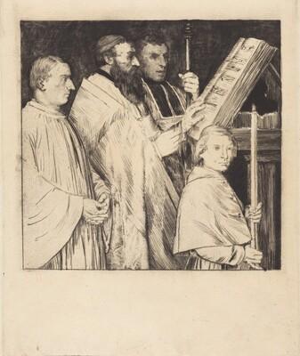 Choristers, 1st plate (Le lutrin)