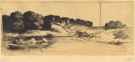 Landscape with Boat, 1st plate  (Le paysage au bateau)