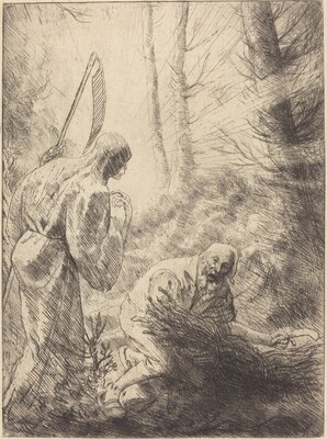 Death and the Woodcutter, 2nd plate (La Mort de le bucheron)