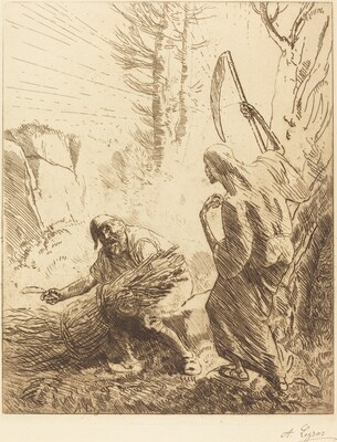 Death and the Woodcutter, 3rd plate (La mort et le bucheron)