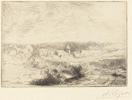 Village of Wimille, near Boulogne  (Village de Wimille, pres Boulogne)