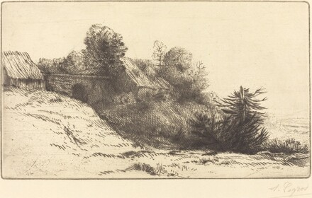 View of a Farm, 2nd plate (La ferme du Bienheureux)