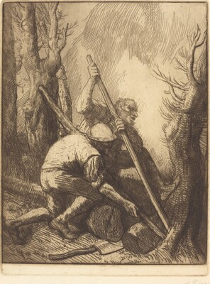 Woodcutters, 3rd plate (Les bucherons)
