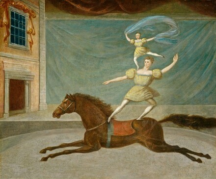 American 19th Century, The Mounted Acrobats, 1825 or after