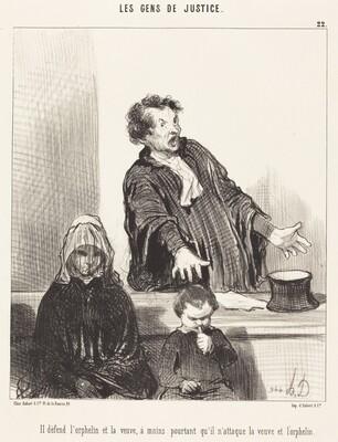 Il défend l'orphelin et la veuve, a moins...