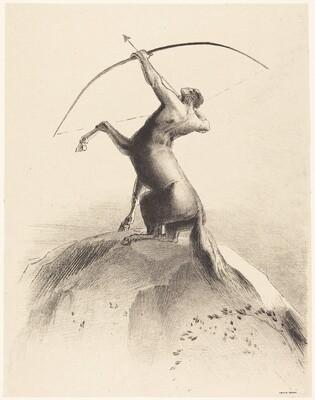 Centaur visant les Nues (Centaur aiming at the Clouds)