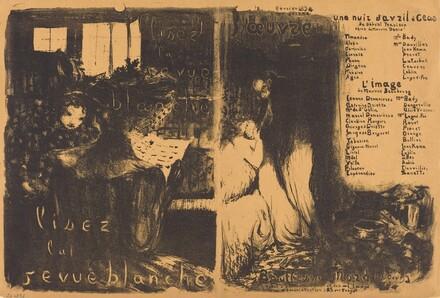 Lisez la revue blanche;  Un nuit d'Avril Ceos, L'image