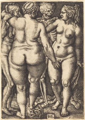 Death and Three Nude Women