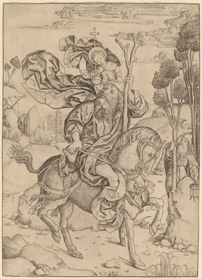 Saint Christopher on Horseback