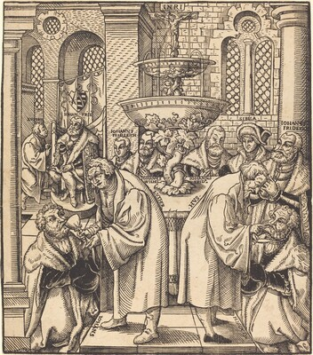 The Reformers Luther and Hus Giving Communion to the Princes of the House of Saxony