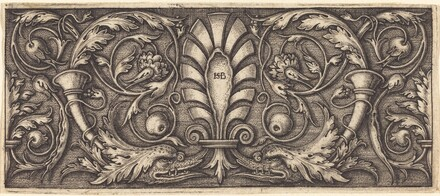 Ornament with Two Grotesque Dolphins