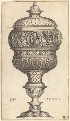Double Goblet with Round Medallions