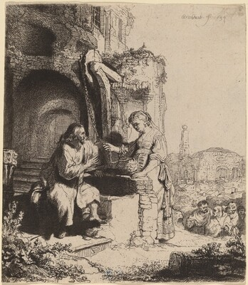 Christ and the Woman of Samaria Among Ruins