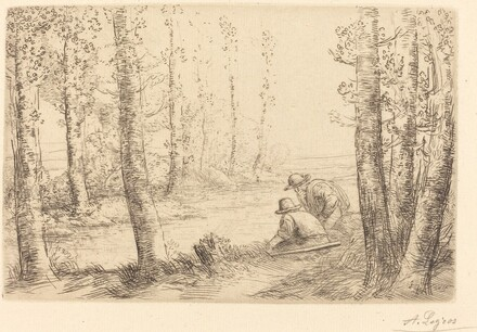 Rest along the Banks of the River (Repos au bord de la riviere)