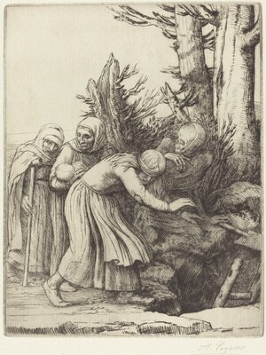 The Triumph of Death: Death Prepares a Dwelling for the Homeless (Le triomphe de la Mort: Lamort a prepare une demeure a des abandonnees)