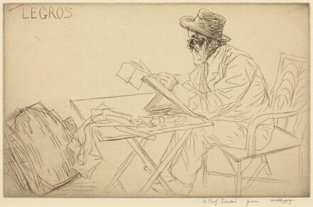 Alphonse Legros Sketching