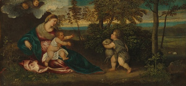 Madonna and Child and the Infant Saint John in a Landscape