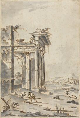 Capriccio of Classical Ruins on a Shore