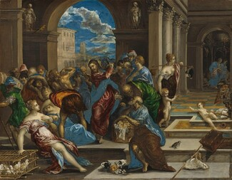 El Greco, Christ Cleansing the Temple, probably before 1570probably before 1570