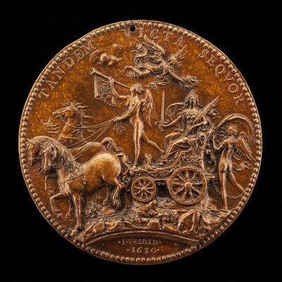 Fortune Chained to a Chariot Carrying Fame and France [reverse]