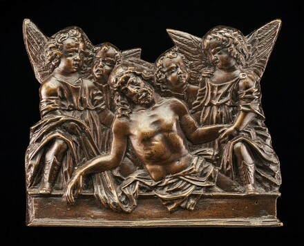 Christ Attended in the Tomb by Four Angels