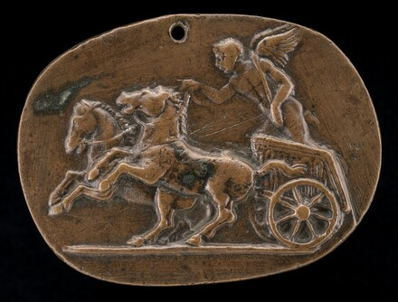 Cupid Driving a Chariot