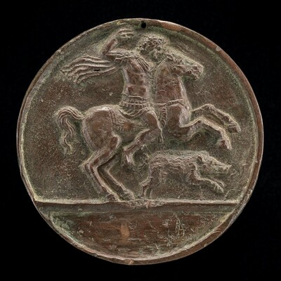 Meleager on Horseback [reverse]