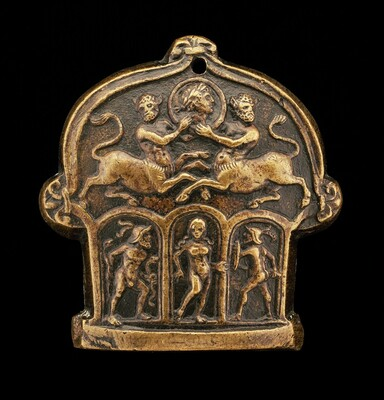 Part of a Sword Pommel (Centaur Supporting Medallion; Venus Flanked by Mars and Hercules)