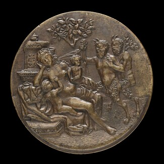 Sleeping Nymph and Two Satyrs [reverse]