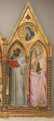 Saint Bernard and Saint Catherine of Alexandria with the