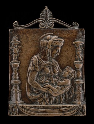 Madonna and Child between Two Candelabra