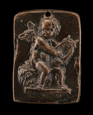 Cupid Playing on a Lyre