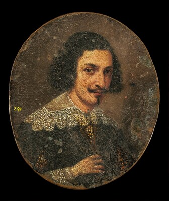 Portrait of a Young Man in Oil [reverse]