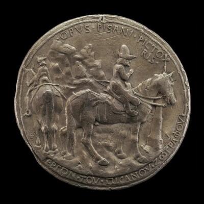 John VIII Riding in a Rocky Landscape [reverse]