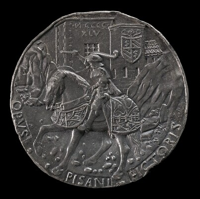 Sigismondo on a Charger before a Fortress [reverse]