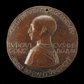 Lodovico III Gonzaga, 1414-1478, 2nd Marquess of Mantua 1444 (obverse)