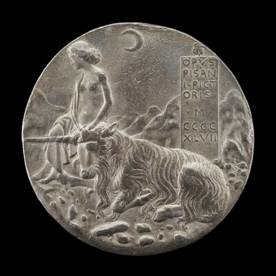 Innocence and Unicorn in a Moonlit Landscape [reverse]