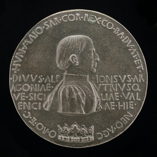 Alfonso V of Aragon, 1394-1458, King of Naples and Sicily 1443 [obverse]