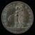 Female Figure with Purse and Scepter [reverse]