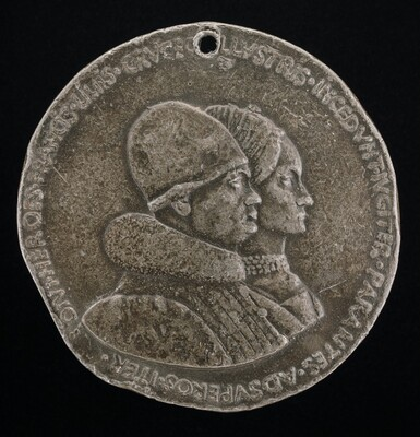 Rene d'Anjou, 1409-1480, King of Naples 1435-1442, and Jeanne de Laval, died 1498 [obverse]