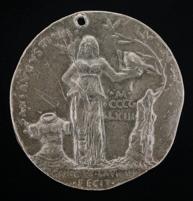 Peace Holding an Olive Branch and Helmet [reverse]