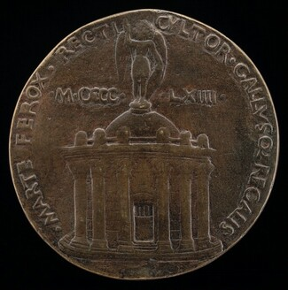 Temple Surmounted by Figure of Saint Michael [reverse]