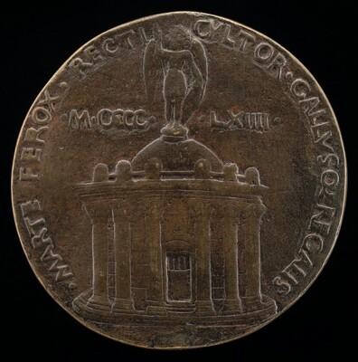 Temple Surmounted by Figure of Saint Michael [reverse]