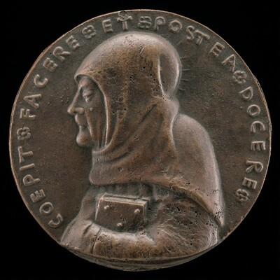 Saint Bernardino of Siena, 1380-1444, Canonized 1450 [obverse]