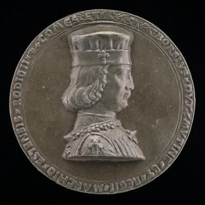 Borso d'Este, 1413-1471, Marquess of Ferrara 1450, Duke of Modena and Reggio 1452 [obverse]