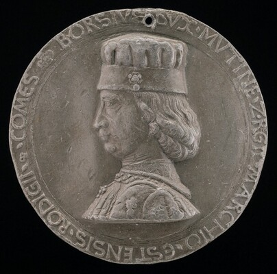 Borso d'Este, 1413-1471, Marquess of Ferrara 1450, Duke of Modena and Reggio 1452 [obverse]