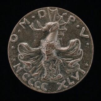 Shield, Helmet, Elephant-crest, and Mantling [reverse]