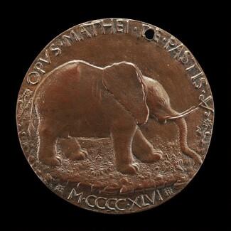 The Malatesta Elephant in a Meadow [reverse]